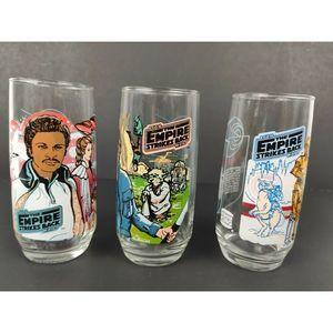 Empire Strike Back 1980 Burger King Glasses Set 3